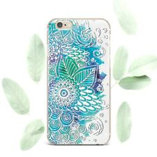 Floral Henna Mandala Flower Silicone Soft Rubber Case Cover Back For Apple iPone