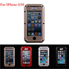 Atomic dustproof shockproof Durable Aluminum Glass Case For IPHONE 5/5S