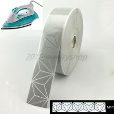 """Safety Silver Reflective Tape Fabric Iron On Heat Transfer Film 2"""" M11"""