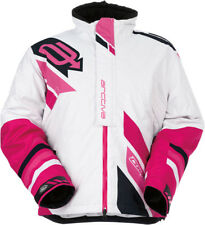 Arctiva Womens White/Pink Comp Insulated Snowmobile Jacket