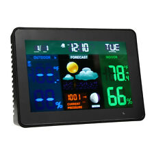 Wireless Color LCD Weather Forecast Station Alarm Clock Thermometer Hygrometer