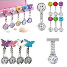 New Cute Pendant Butterfly Nurse Clip-on Brooch Quartz Hanging Pocket Watch WU
