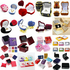 High Fashion Jewelry Earring Ring Display Storage Organizer Square Box Case Gift