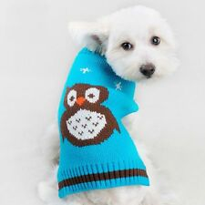 Small Pet Dog Cats Clothes Puppy Doggy Knit Warm Owl T Shirt Coat Costumes