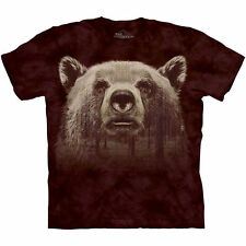 Grizzly Bear Head Face Forest Tree T Shirt The Mountain Animal Tee S-4XL 5XL