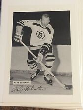 T- Vintage Hockey Photo ANDY HEBENTON Boston Bruins 1960's NHL National League