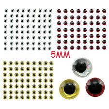 Wholesale 500Pc 5mm Holographic 3D Fishing Lure Eyes Fly Tying Jigs Crafts Dolls