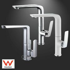WELS Kitchen Laundry Swivel Sink Tap Faucet Tall Basin Mixer Brass Chrome/White