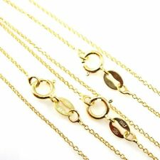 22k Gold Vermeil Sterling Silver Necklace Chain-Tiny Plain Cable Chain