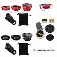 180 Degree 3 in1 Clip On Fish Eye,Macro Camera,Wide Angle Lens for Smartphone