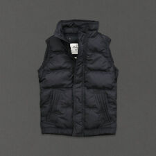 NWT ABERCROMBIE & FITCH MENS OULUSKA PASS VEST DOWN JACKET COAT GRAY SIZE M A&F
