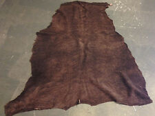 Genuine Lambskin Spanish Suede Chocolate Brown Rustic Full Leather Hides FS659