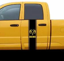 NEW RAM HEAD HEMI RACING STRIPES Fits Dodge RAM Pickup Truck vinyl Decal Sticker