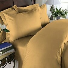 US-BEDDING COLLECTION 1000TC 100%EGYPTIAN COTTON GOLD SOLID US TWIN SIZE