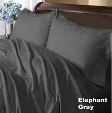US-BEDDING COLLECTION 1000TC 100%EGYPTIAN COTTON GRAY STRIPE US QUEEN SIZE