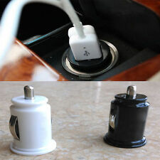 12V Car Charger Twin Port Power Adaptor Mini Bullet Dual USB For iPhone
