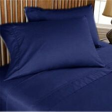 US-BEDDING COLLECTION 1000TC 100%EGYPTIAN COTTON NAVY BLUE SOLID US QUEEN SIZE