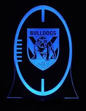 Canterbury Bulldogs Rugby League LED Colour Change Night Light Lamp Kids Room