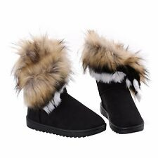 UK WOMEN LADIES WINTER QUILTED FUR LINED FASHION SNOW ANKLE BOOTS SHOES UK SIZES