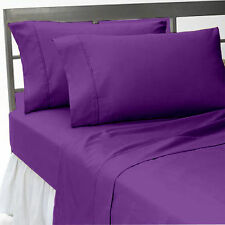 US-BEDDING COLLECTION 1000TC 100%EGYPTIAN COTTON PURPLE SOLID US CAL KING SIZE