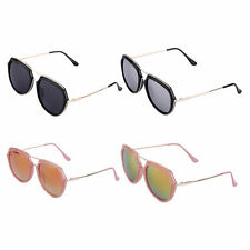 Trendy Fashion Classic Women Vintage Metal and Plastic Large Frame Sunglasses EP
