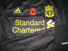 Liverpool 2010-11 EPL Remebrance ADIDAS Techfit Player issue Away Shirt GERRARD