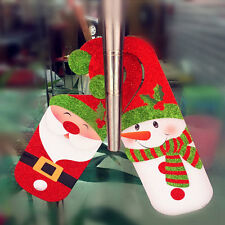 Handle Wall Door Hanger Xmas Non-Woven Santa Snowman Party Ornament Gift