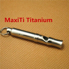 MaxiTi Titanium Whistles Survival Rescue Gear Emergency Gear Pendant EDC