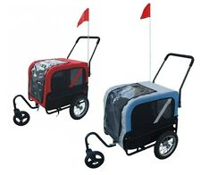 Pet Dog Bicycle Transport Carrier Cycle Towed Tow Trolley Stroller Cart Trailer