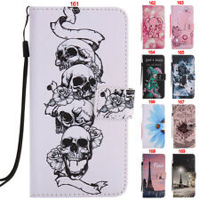 New Skull Cat Tower Wallet Leather Flip Case For iPhone 5S/SE/6S/6 Plus/7/7 Plus
