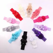 Bow Shabby Lace Baby Headband Chic Flower