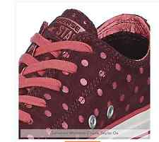 CONVERSE Womens Suede Andorra 540320C pink polka dots leather purple/red CHUCKS