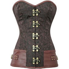 Punk Goth Cosplay Steampunk Corset Basque High Quality Steel boned