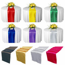 30x275cm Satin Wedding Party Reception Banquet Table Runner Decoration 12x108""