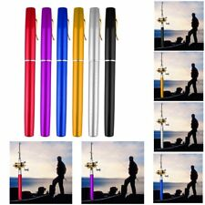 Mini Portable Aluminum Alloy Pocket Pen Shape Fish Fishing Rod Pole With Reel IJ