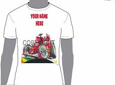 KOOLART FORMULA 1 FERRARI M SCHOMAC ANY NAME T-SHIRT GIFT PRESENT CAR MOTOR 1250