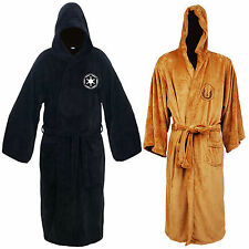 Star Wars Jedi Knight Hooded Robe Adult Fleece Dressing BathRobe Pajamas Costume