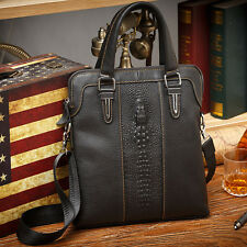 Fashion Genuine Cow Leather Men's Messenger Tote Briefcase Laptop Bag Handbag