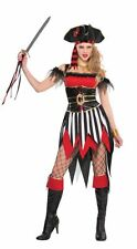 Deluxe Sexy Shipwreck Beauty Pirate Ladies Fancy Dress Costume Hen Party Outfit
