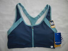 Champion Double Dry The Zip Racerback High Support Sports Bra ~  M  XL