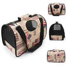 New Dog Cat Soft Portable Tote Carrier House Kennel Pet Travel Bag Cage PVC