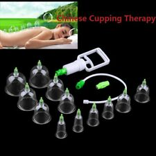 new 6/12 Cups Chinese Body Cupping Massage Set Acupuncture Medical Vacuum KL