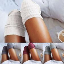 OVER THE KNEE SOCKS Plain Warm High Thigh Ladies Long Womens Solid Stocking