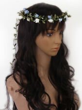 Rose Flower Head Wreath Crown Floral Halo Headpiece Wedding Party Accessory