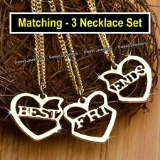 Best Friends Gold Heart Necklaces Set Xmas Gifts For Her Daughters Sisters Niece