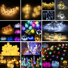 Solar Battery 20/50/100 LED Fairy String Lights Xmas Halloween Party 17 Patterns