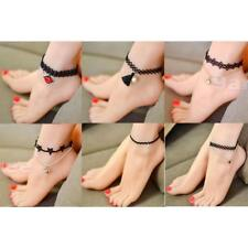 Women Flower Lace Ankle Anklet Bracelet Sexy Barefoot Sandal Beach Foot Jewelry