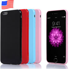 Soft Rubber Silm TPU Bumper Case Skin Cover [Apple iPhone 6S / iphone 6S Plus]