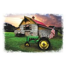 God Bless America  Green Tractor and Flag   Sweatshirt/L/S Tshirt   Sizes/Colors