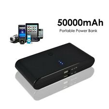 50000mAh Portable Power Bank 2-USB Backup Battery Charger For Mobile Cellphone